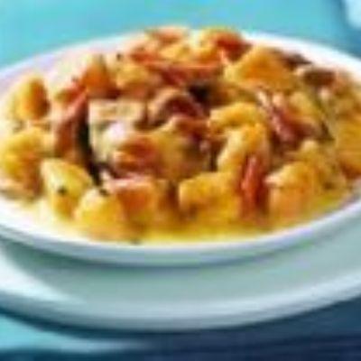 Abóbora Cremosa com Carne-seca