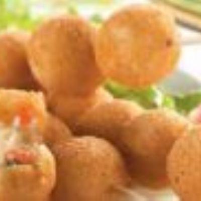 Bolinhas de batata recheadas