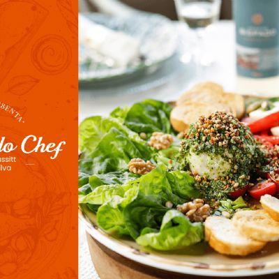 Big Salada de Burrata & Caprese | Na Casa do Chef - Fernanda e Valéria