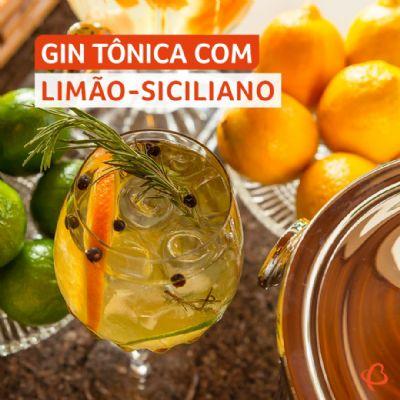 Gin Tônica com Limão-Siciliano