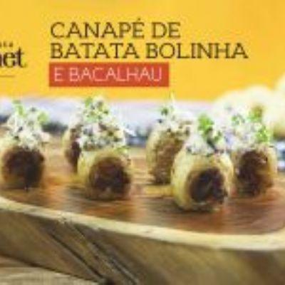 Canapé de Batata Bolinha e Bacalhau | Insta Gourmet